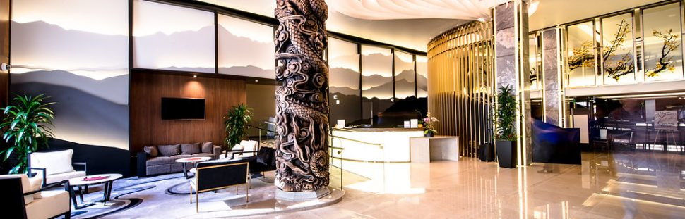 new lobby at hotel fusion